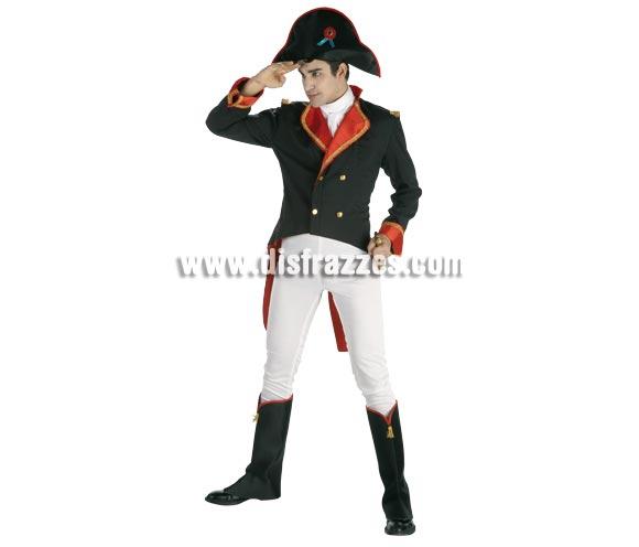 Disfraz de Napoleón para hombre. Talla Standar. Incluye pantalón, chaqueta, pañuelo, cubrebotas y sombrero.