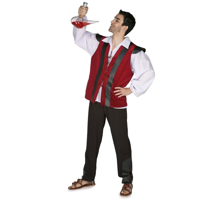 Disfraz de Mesonero para hombre. Talla Standar. Incluye pantalón, camisa y chaleco. Disfraz de Campesino o Posadero Medieval.