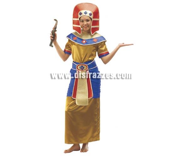 Disfraz de Egipcia para mujer adulta. Talla Standar. Incluye vestido, falda, cinturón, cuello y turbante.