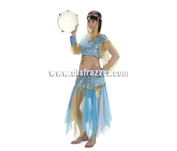 Disfraz de Bailarina Danza del Vientre para mujer. Talla Standar. Incluye falca, camisa, pantalón y pañuelo.