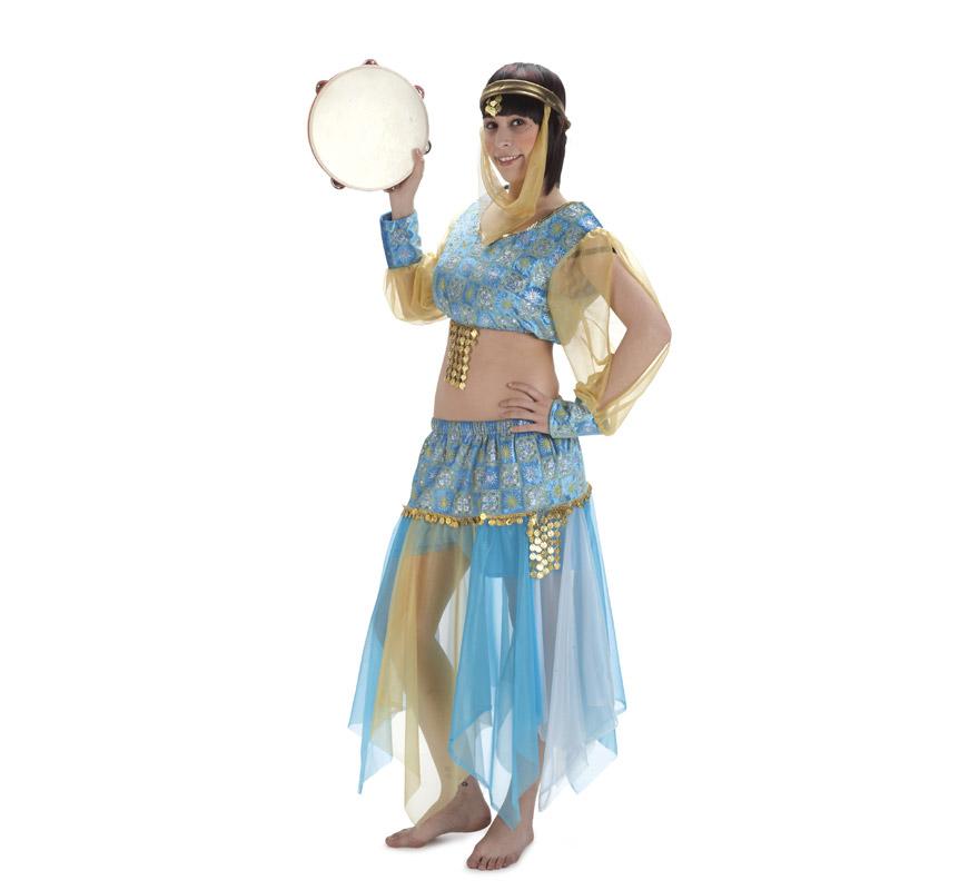 Disfraz de Bailarina Danza del Vientre para mujer. Talla Standar. Incluye falda, camisa, pantalón y pañuelo.