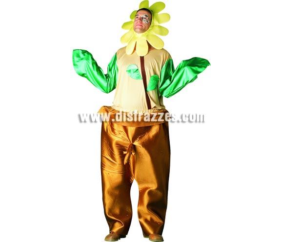 Disfraz de Flor Sexy para hombre. Talla Standar. Incluye pantalón, camisa y tocado.