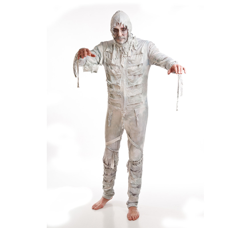 Disfraz de Momia para hombre. Talla única de hombre. Incluye mono y capucha.