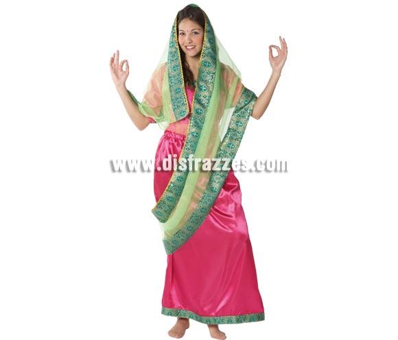 Disfraz de mujer Hindú para chicas. Talla Standar. Incluye falda con echarpe y camisa. Disfraz de Bollywood para mujer.