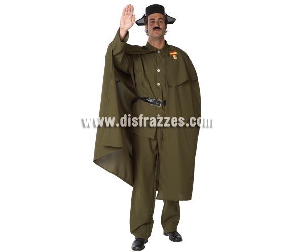 Disfraz de Guardia Civil con Capa para hombre. Talla Standar. Incluye pantalón, chaqueta, capa y cinturón. Tricornio NO incluido, lo verás en la sección de Complementos.