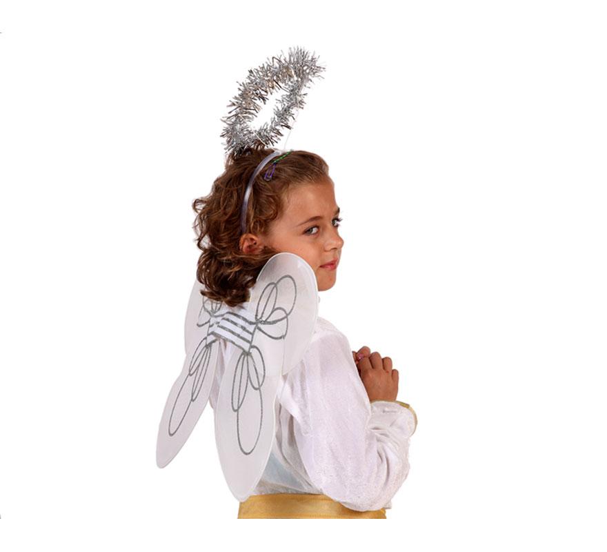 Set de Alas y Tiara de 65x47 cm. Perfecto para disfrazarse de Angel. Talla universal.