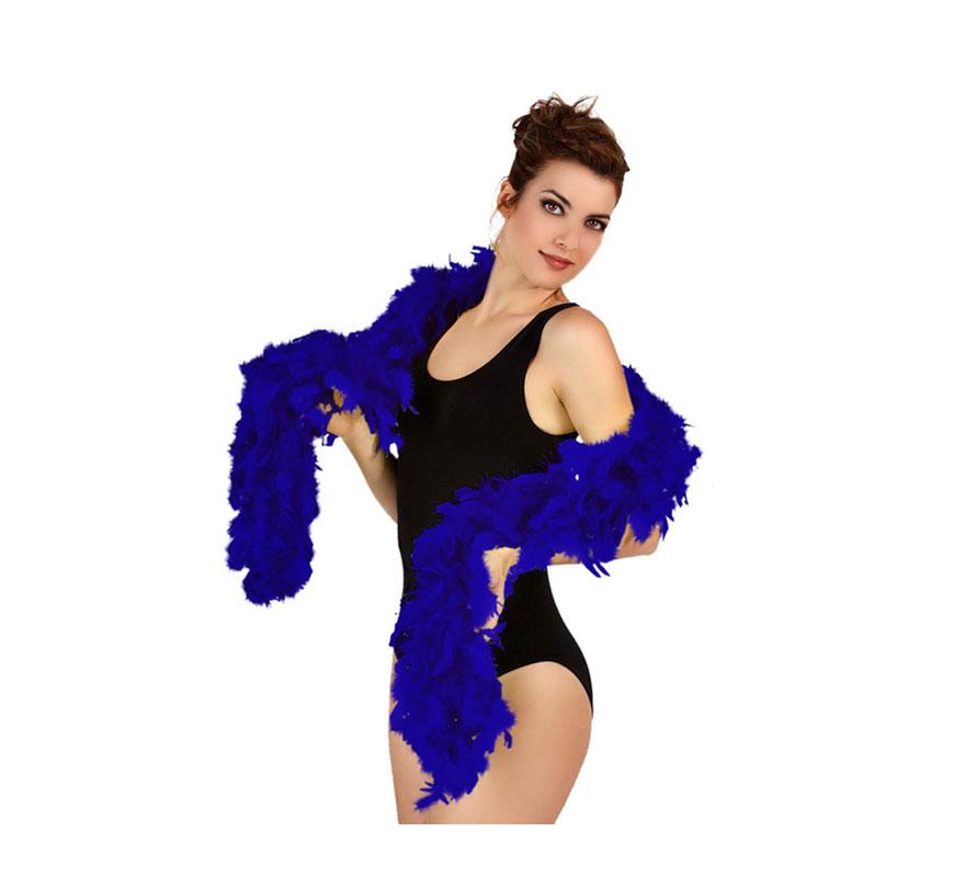 Boa Azul Electrico de plumas 45 gr.