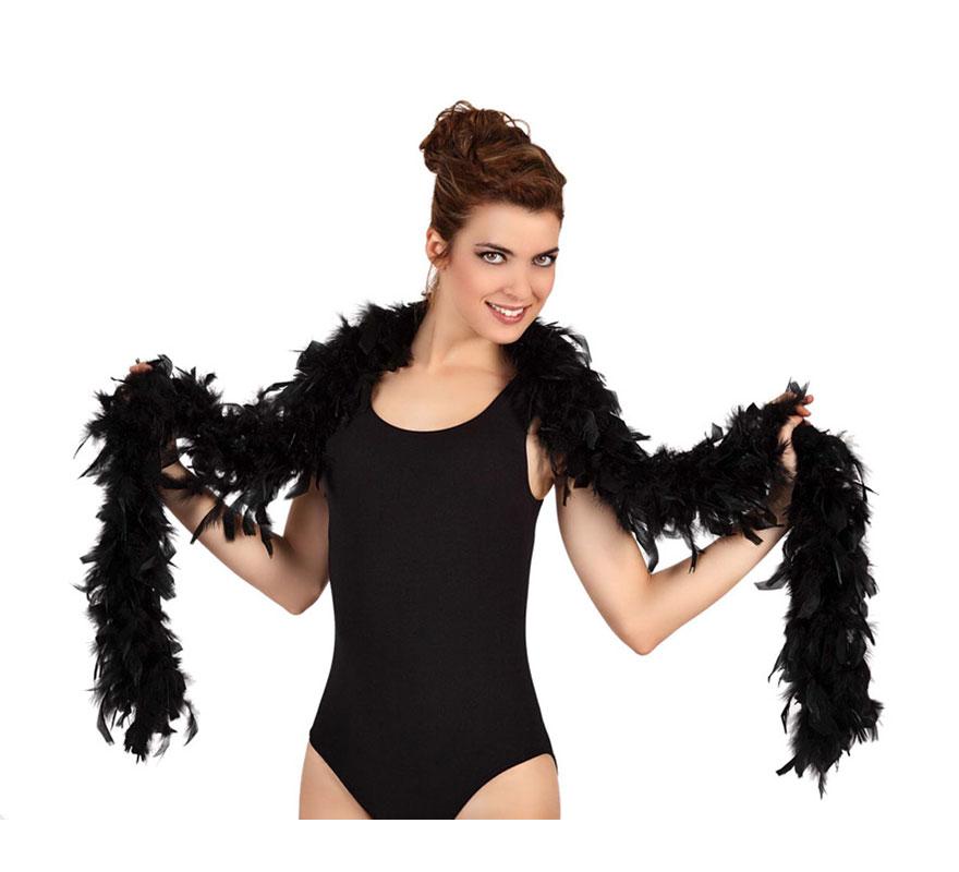Boa negra de plumas de 45 gr.