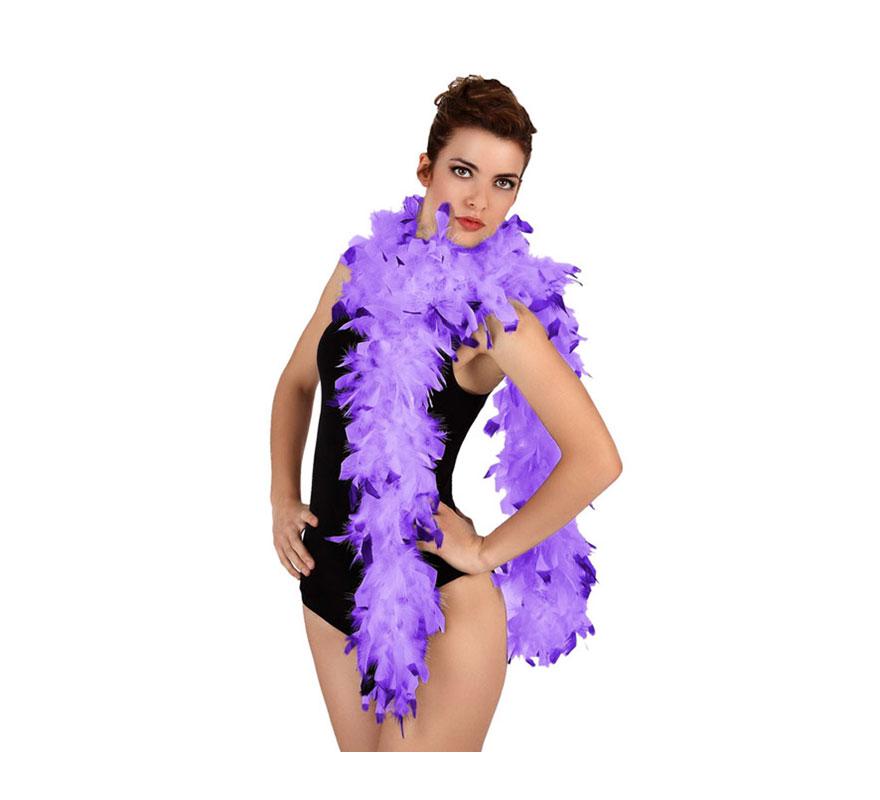Boa bicolor púrpura de plumas de 45 gr. Ideal para tu disfraz de Charlestón o Cabaret. También para Despedidas de Soltera.