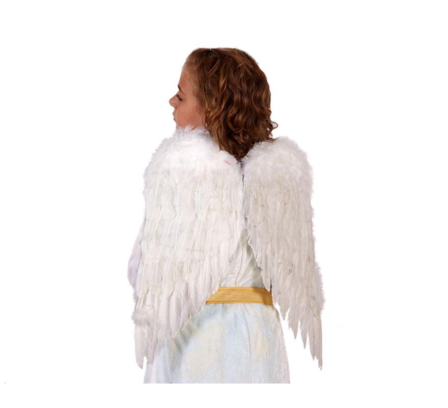 Alas de Ángel con plumas blancas de 47 x 39 cm.