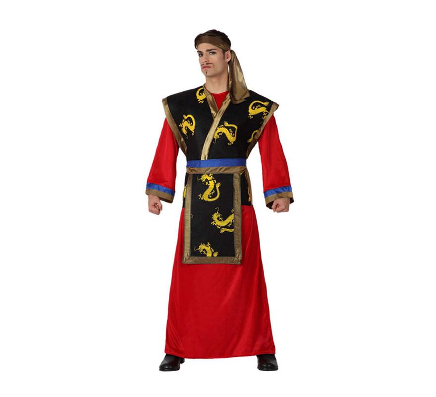 Disfraz de Samurai adulto. Talla M-L 52/54. Incluye disfraz completo.