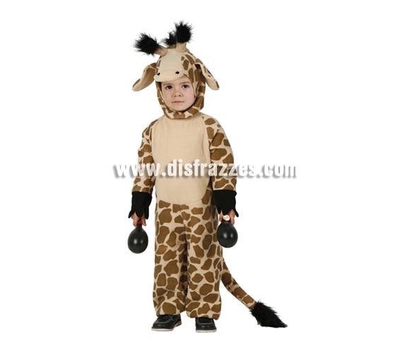 Disfraz de Jirafa infantil. Talla de 3 a 4 años. Incluye mono y capucha.