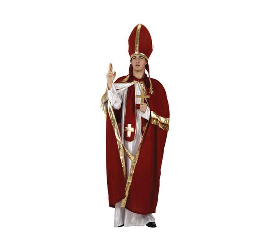 Disfraz de Obispo o de Papa para hombre. Talla 2 ó talla standar M-L 52/54. Incluye traje completo.