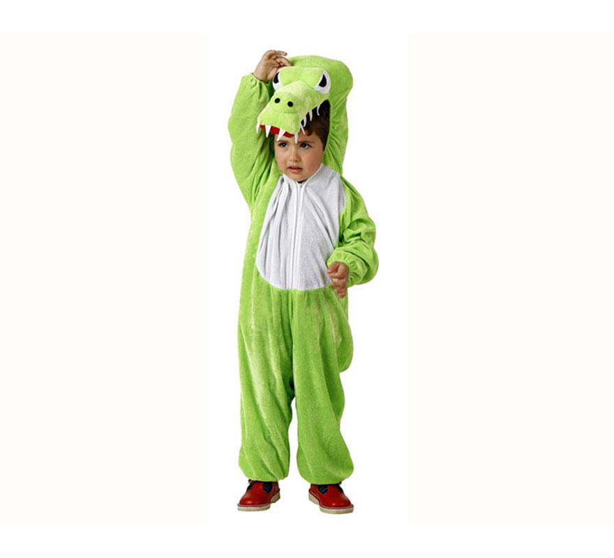 Disfraz de Cocodrilo para niños de 7 a 9 años. Incluye disfraz completo.