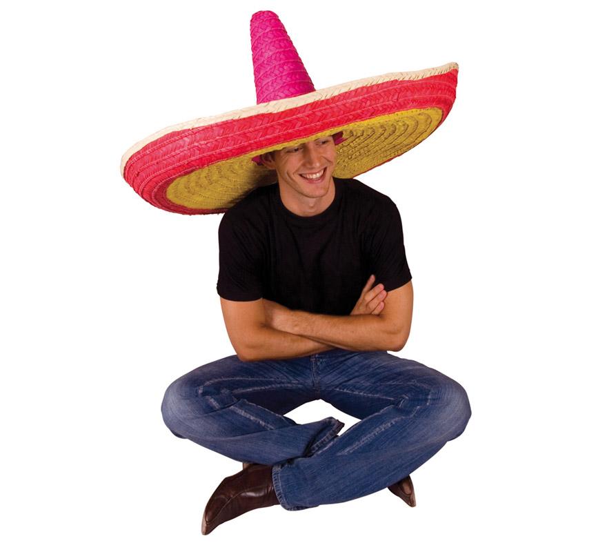 Sombrero de Mejicano gigante multicolor 86 cm Ø.