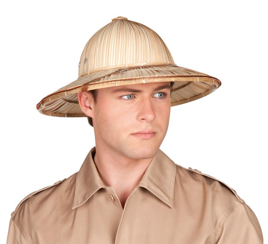 Sombrero de Safari o Gorro de Explorador. Talla única.