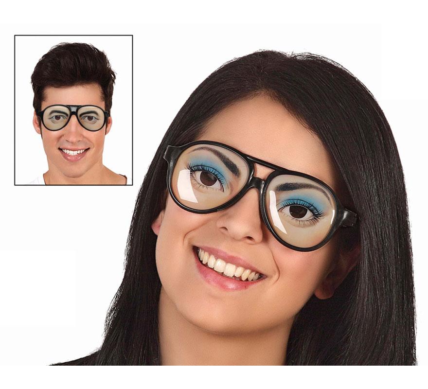 Gafas con ojos dibujados 2 modelos surtidos. Precio por unidad, se venden por separado.