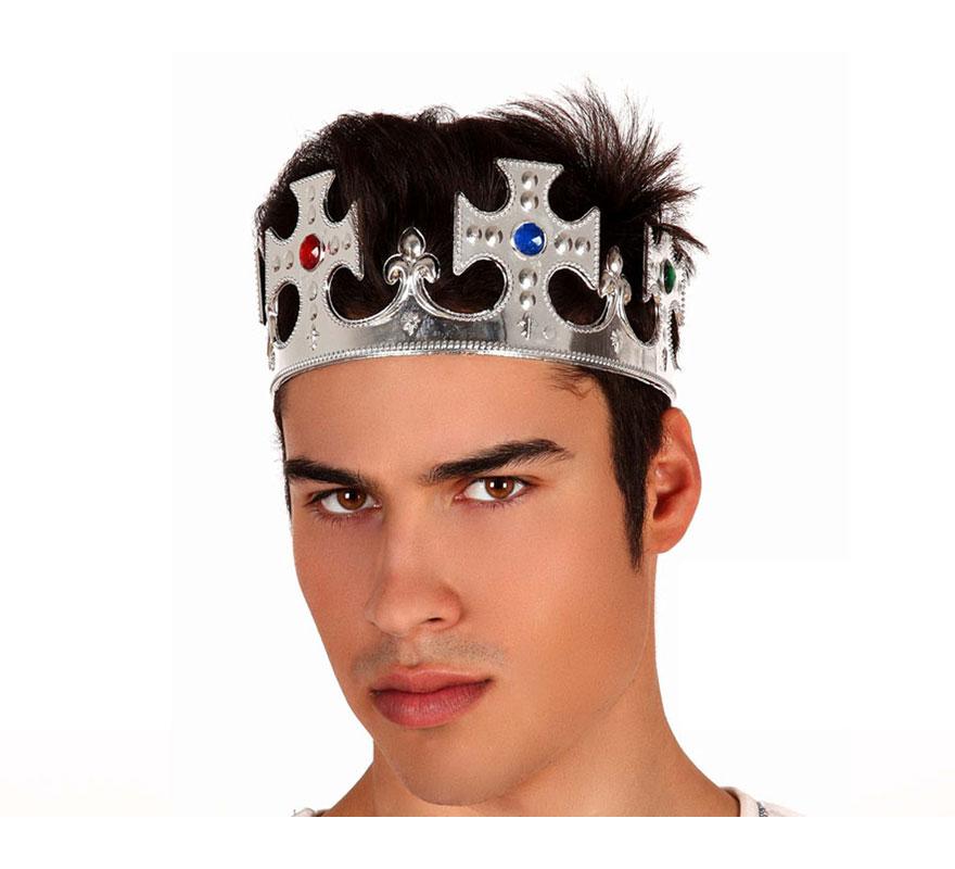 Corona de Rey ajustable 2 colores surtidos. Talla universal. Precio por unidad, se venden por separado.
