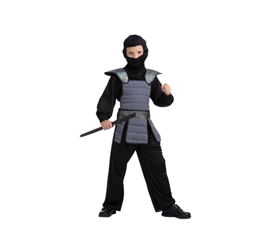 Disfraz de Samurai niño talla de 4 a 6 años. Espada NO incluida, podrás verla en la sección Complementos. Disfraz de Ninja para niño.