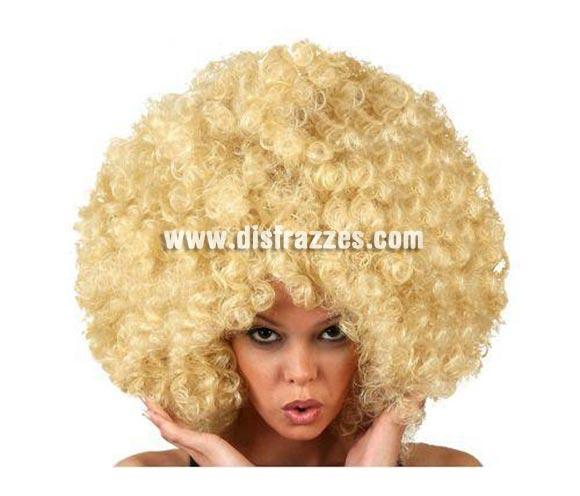 Peluca Super Afro rubia.
