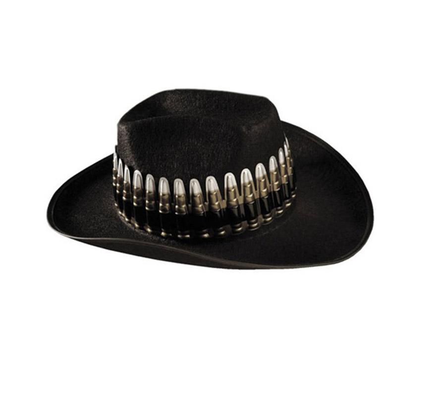 Sombrero de Vaquero o Pistolero de fieltro con balas.