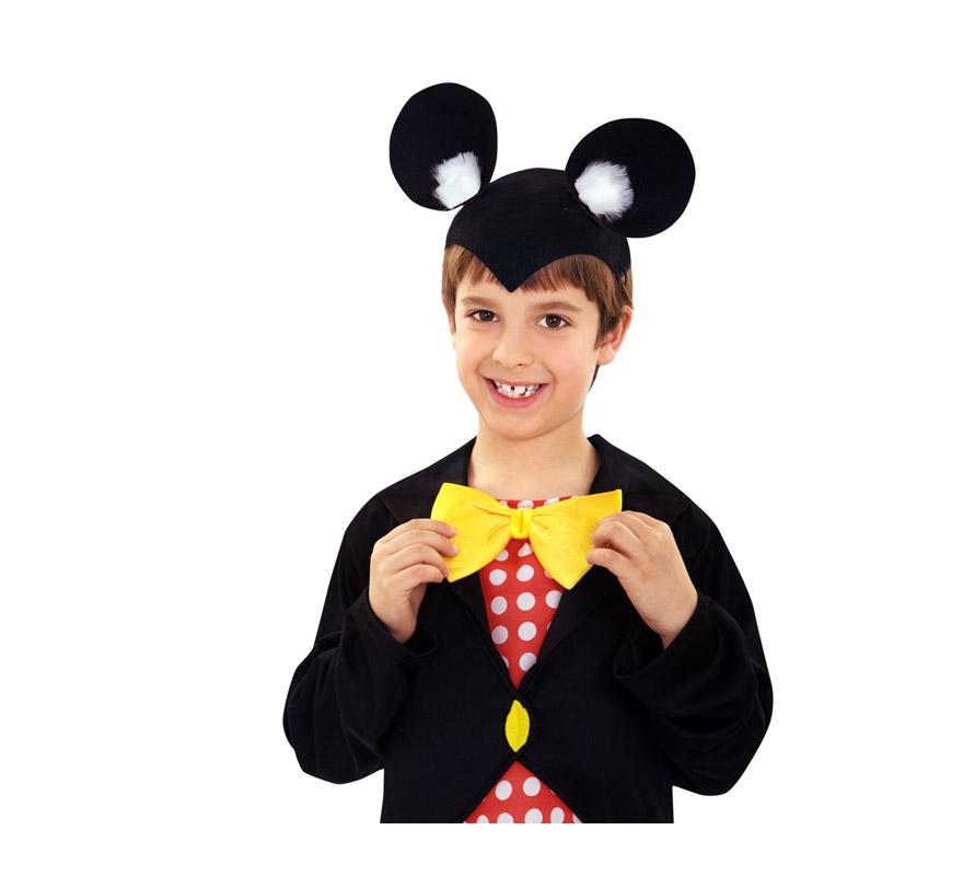Gorro con orejas de Ratón Mickey Mouse para Carnaval. Sirven tanto para niños, como para adultos.