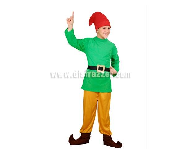 Disfraz de Enanito infantil para Navidad y Carnaval. Talla de 3 a 4 años. Incluye gorro, casaca, cinturón, pantalón y cubrebotas. Un disfraz que también sirve para disfrazar a los niños de Duendes en Navidad. Éste disfraz de Navidad es ideal para la época Navideña en la que los niños hacen teatros de Belenes e interpretan canciones tradicionales en los Colegios y se comienzan a preparar las Fiestas en las que Reina la Paz y la Unidad. Disfrazándote con un disfraz para Navidad, o disfrazando a tus hijos con disfraces de Navidad, ayudas a crear ese ambiente mágico en el que los peques se sienten protagonistas y sienten el auténtico Espíritu Navideño que entre todos debemos crear. ¡¡Compra tu disfraz para Navidad en nuestra tienda de disfraces, será divertido!!