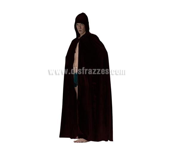 Capa con Capucha de Terciopelo negro para Halloween. Capa de Halloween en talla única de adultos.
