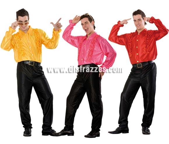 Camisa Discotequero años 60, 70, 80. Talla Standar M-L = 52/54. El precio es por unidad y sólo incluye la camisa, se venden por separado. También Camisa Ciquilicuatre para hombre para ser el Rey de la Disco, como en la peli Fiebre del Sábado noche.