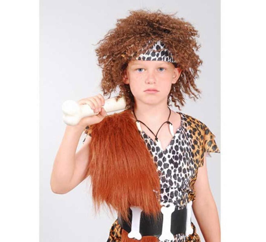 Peluca niño de las Cavernas. Peluca de Troglodita o Cavernícola para niño.
