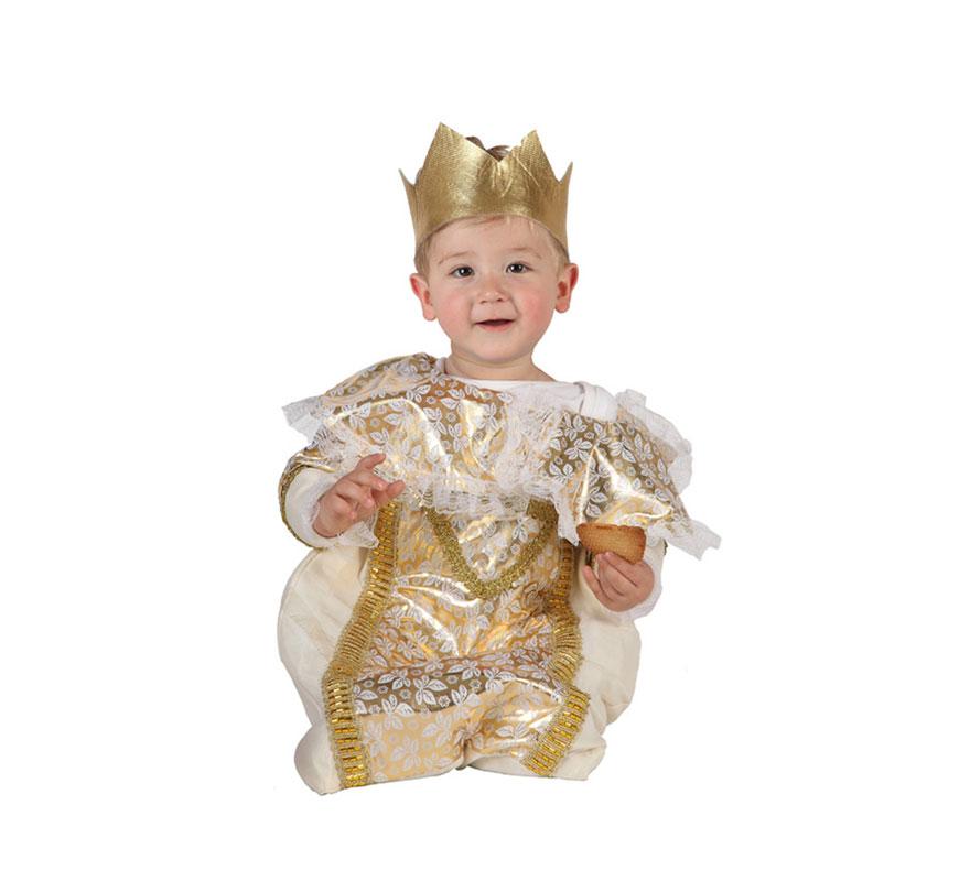 Disfraz de Rey Mago Bebe de 1 a 6 meses. Incluye traje y corona.