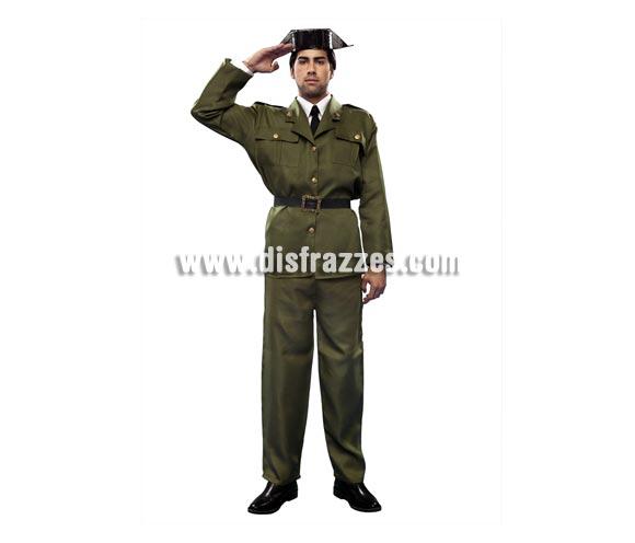 Disfraz barato de Guardia Civil adulto. Talla Standar M-L = 52/54. Incluye Tricornio, chaqueta, cinturón y pantalones. ¡¡¡Cuidado con la Benemérita!!!