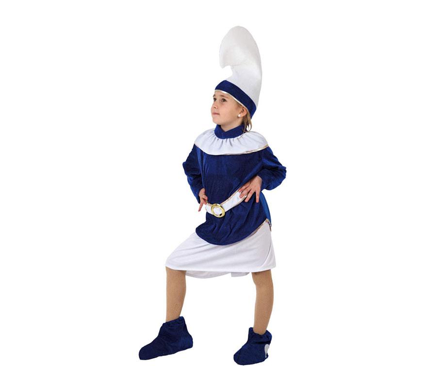 Disfraz de Enana Azul para niñas de 5-6 años. Incluye disfraz completo. Para jugar a Los Pitufos.