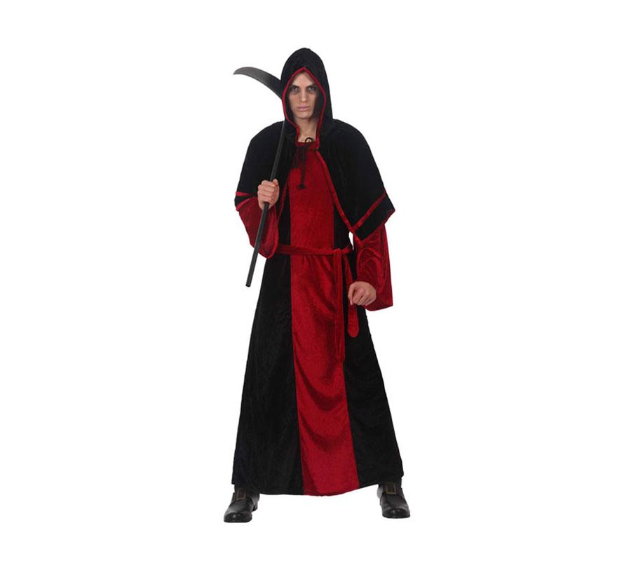 Disfraz de Señor de la Muerte adulto para Halloween. Talla Standar M-L = 52/54. Guadaña NO incluida, podrás verla en la sección de Complementos de Halloween.