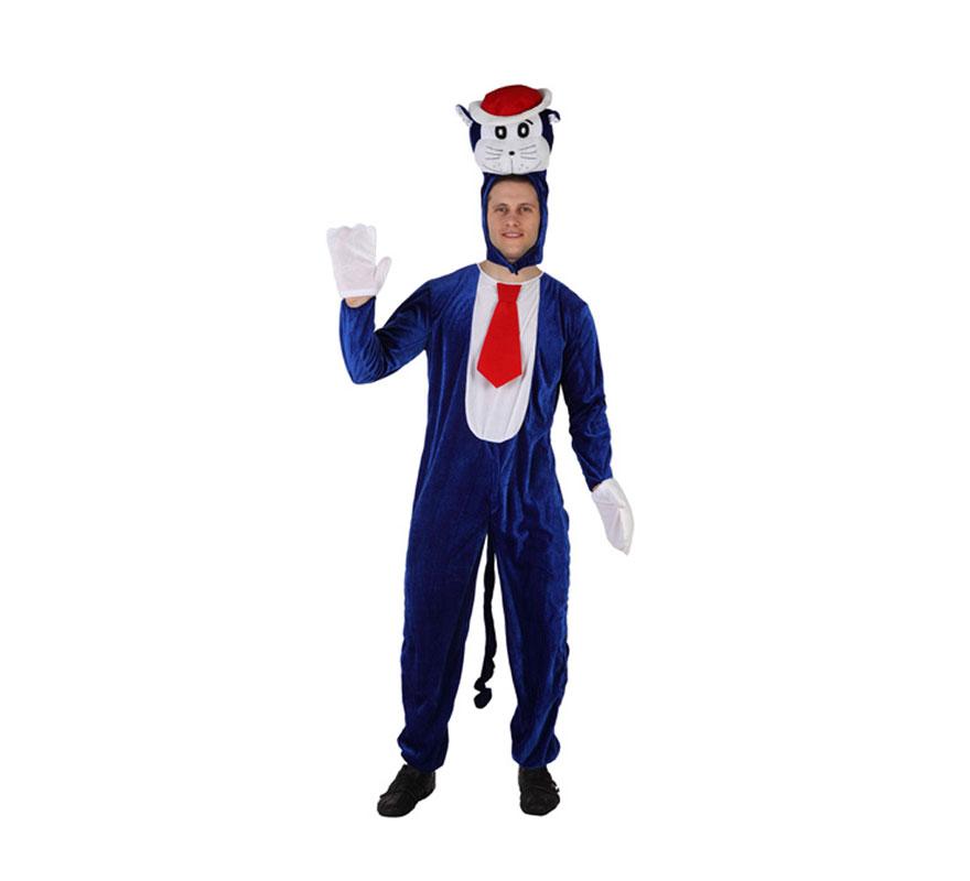 Disfraz de Gato azul adulto talla M-L. Incluye disfraz completo.