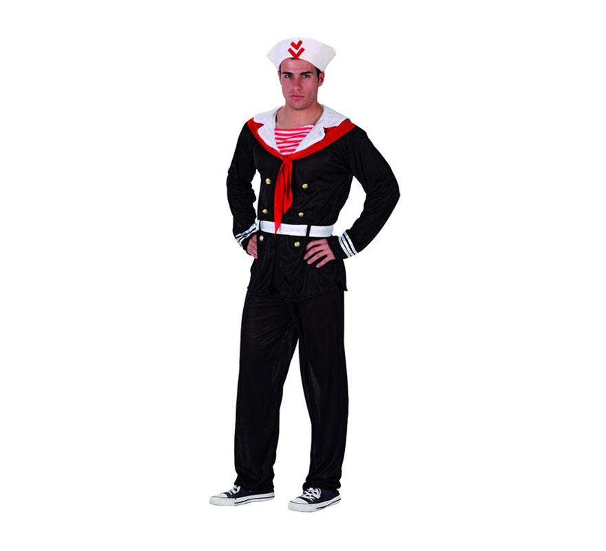 Disfraz Marinero para hombre. Talla Standar ó talla M-L 52/54. Incluye traje completo.