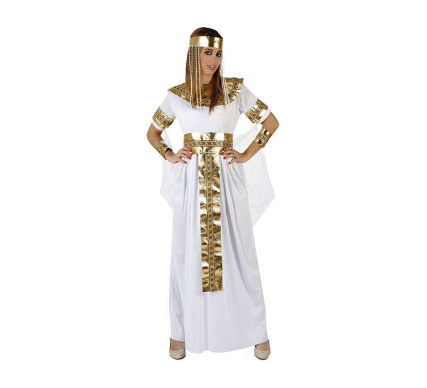 Disfraz de Reina Faraona para mujer. Talla 3 ó talla XL 44/48. Incluye disfraz completo. Disfraz de Cleopatra Reina del Nilo o Reina de Egipto para mujer.