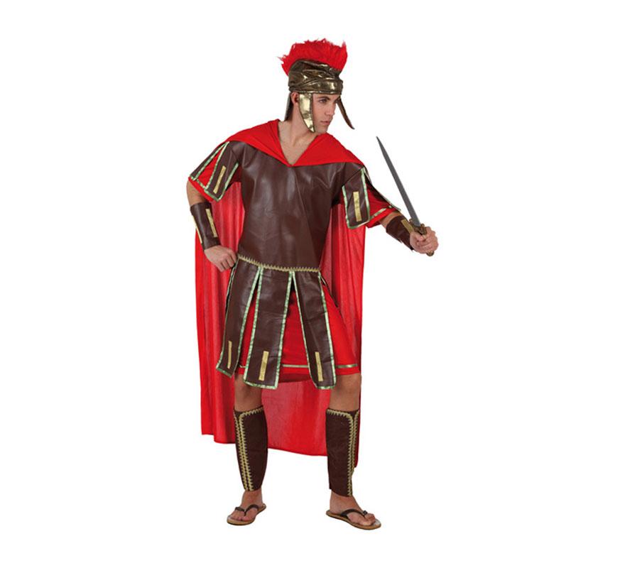 Disfraz de Centurión Romano para hombre. Talla 3 ó talla XL = 54/58. Incluye túnica, casco, cubrebrazos y cubrebotas. Perfecto para Navidad. Disfraz de Guerrero Romano para hombre.