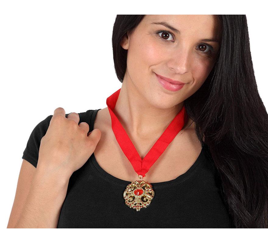Medallón colgante de Vampiro barato de 12,5x24,5 cm. para Halloween.