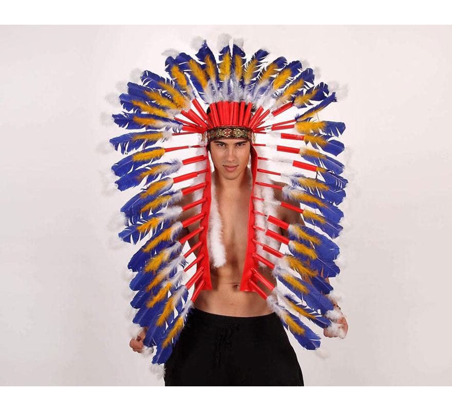Penacho Gran Jefe Indio de plumas