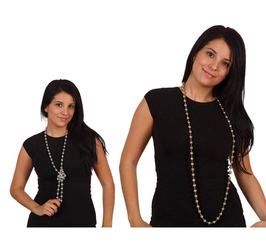Collar Charlestón 3 colores surtidos. Precio por unidad, se venden por separado.