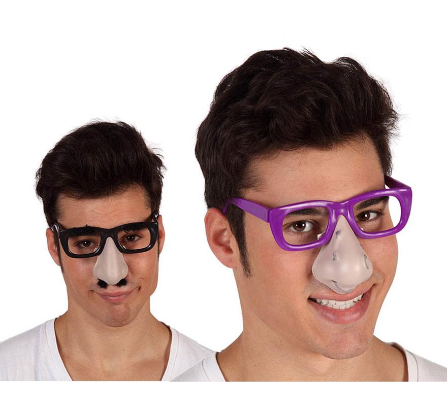 Gafas con nariz 5 modelos surtidos para Halloween. En la foto salen 2 modelos, pero hay 5 diferentes. Precio por unidad, se venden por separado.