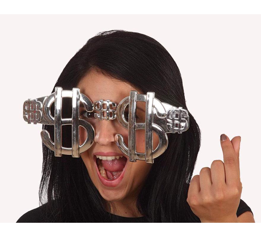Gafas gigantes con el símbolor del Dolar o Dollar.