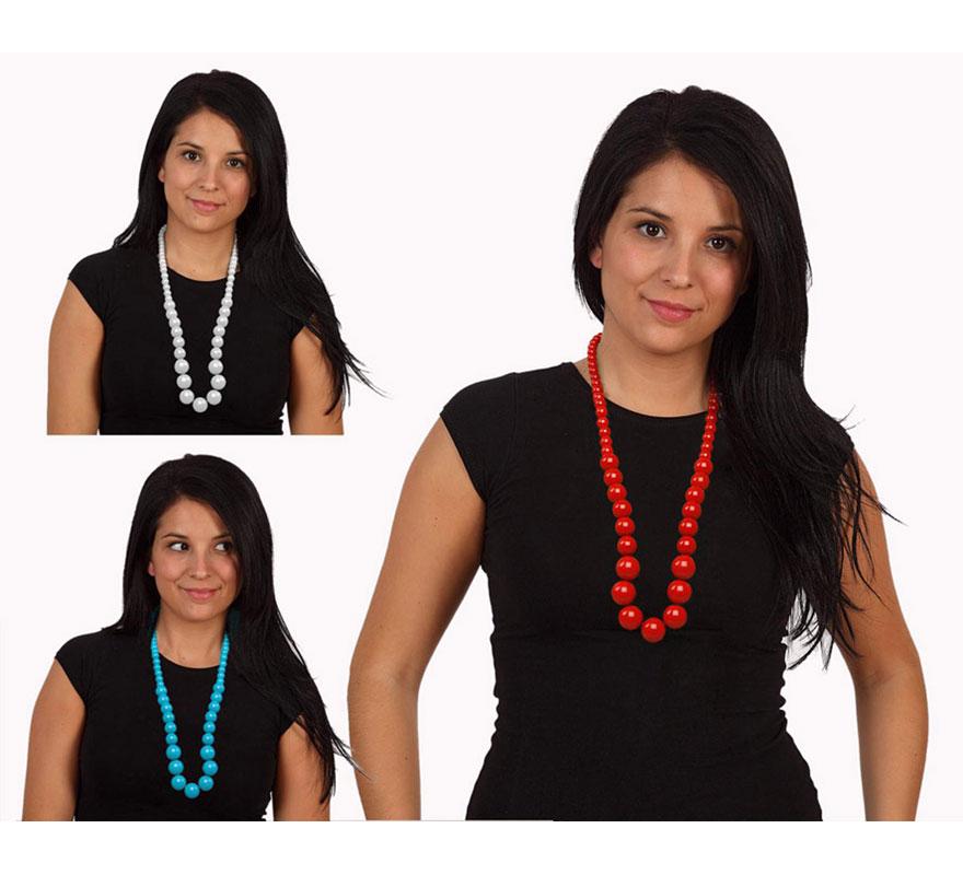 Collar Sevillana 28 cms. Disponible en 3 colores, precio por unidad, se venden por separado. El complemento ideal para los disfraces de Sevillana, Flamenca, Cordobesa, Gitana, etc.