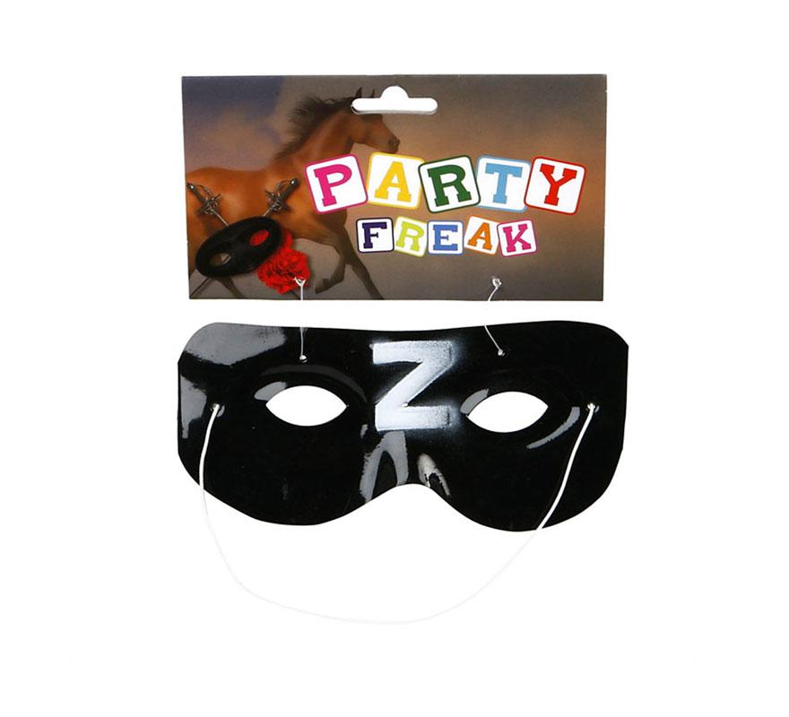 Antifaz de Héroe Enmascarado de PVC. Perfecto para el disfraz del Zorro.