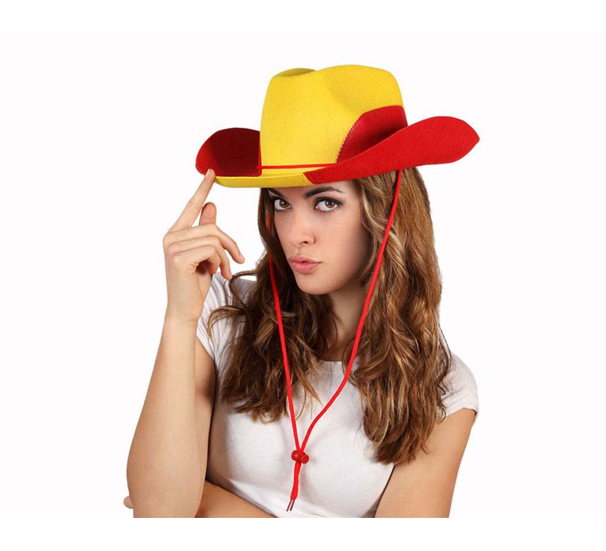 Sombrero Cowboy o Vaquero de la Bandera de España. Ideal para animar a la Selección Española. ES-PA-ÑA!!!!