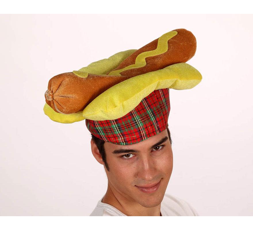 Sombrero o Gorro en forma de Perrito Caliente o Hogdog.