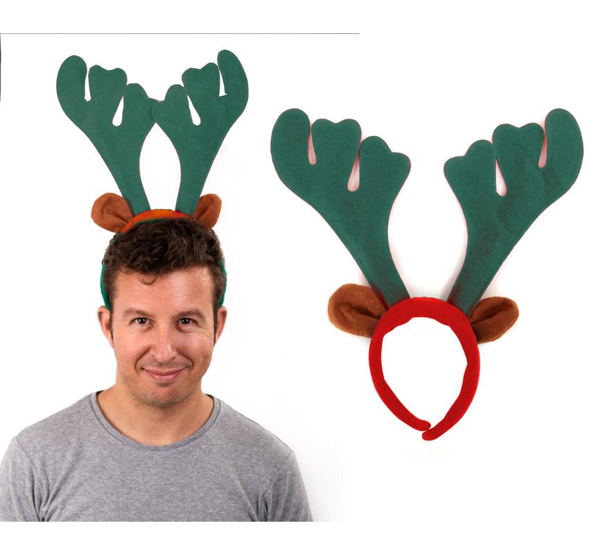 diadema cuernos de reno para navidad