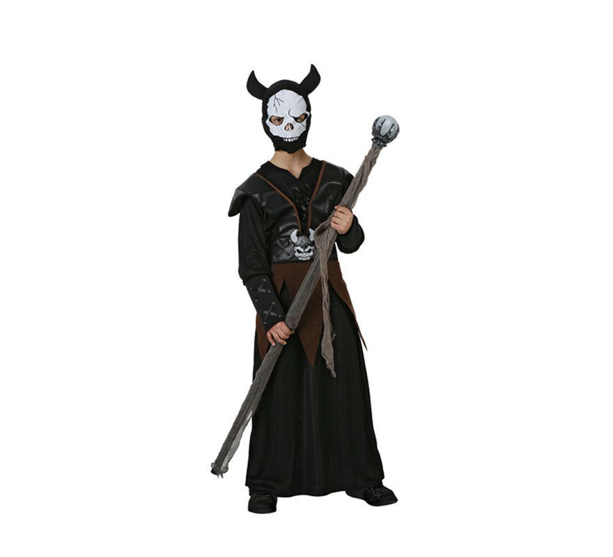 Disfraz de Bestia del Infierno para niños. Talla de 10 a 12 años. Cetro o Bastón NO incluido, podrás verlo en la sección de Complementos.