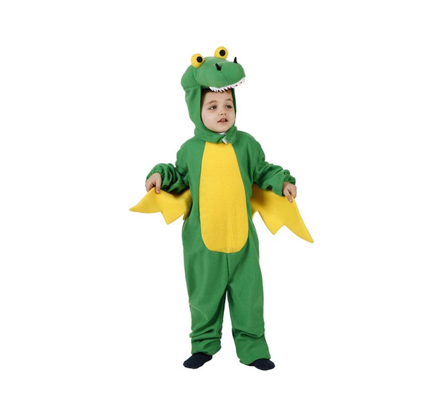 Disfraz de Dragón con alas para niños de 7-9 años. Incluye traje completo.